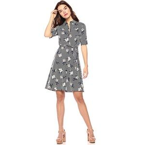 🎉HP🎉 Wild Meadow Short Sleeve Shirt Dress